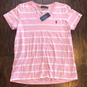 Polo Ralph Lauren Striped Pink/White Tee